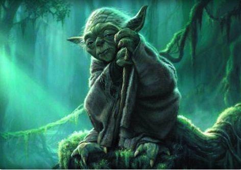 Yoda in Dagobah